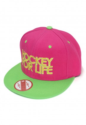 Снепбэк Hockey For Life Pink/Green